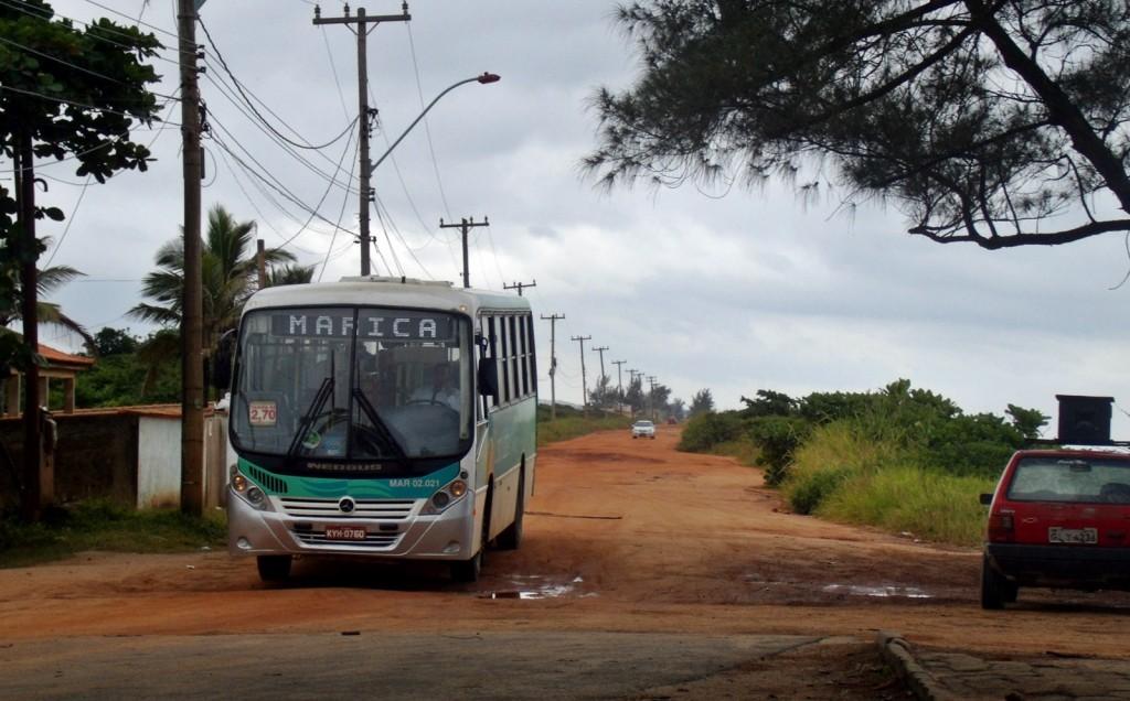 Principal problema do bairro é o transporte precário. (Foto: João Henrique | Maricá Info)