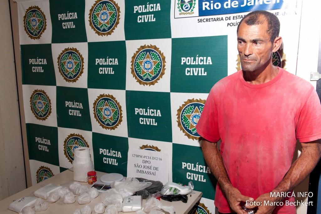Gerônimo foi preso por tráfico em São José. (FOTO: Marco Bechkert | Maricá Info)