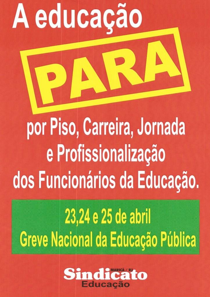 Professores de Maricá aderem à greve nacional.