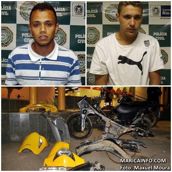 Os dois foram presos e encaminhados para a 82ª DP (Maricá). (Foto: Maxuel Moura | Maricá Info)