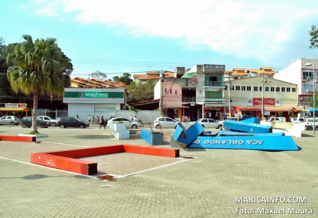 'Obras' reiniciaram nesta segunda-feira (1º). (Foto: Maxuel Moura | Maricá Info)