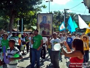 Símbolos da JMJ são recebidos em Maricá - RJ. (Foto: Maxuel Moura | Maricá Info)