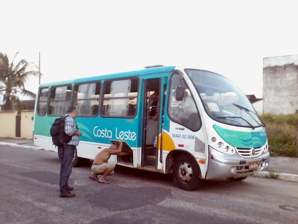 Falta de manutenção nos ônibus da Costa Leste. (Foto: Michelle Lima | Maricá Info)