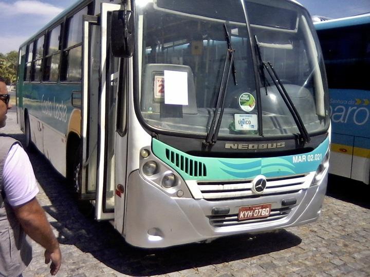 Prefeitura multa ônibus das viações Costa Leste e Amparo