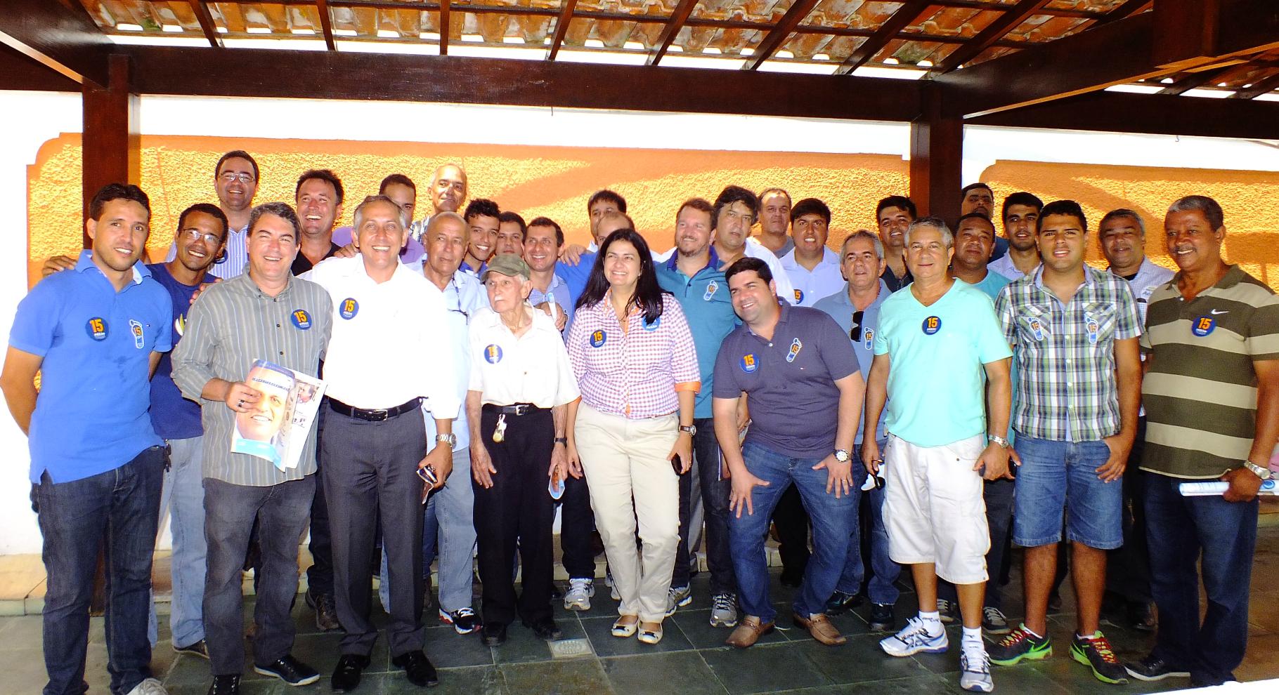 Lideranças políticas de Maricá se unem para apoiar Pezão. (foto: João Henrique | MaricáInfo.com)