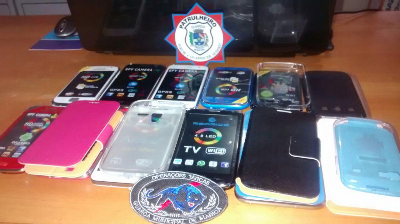 Guarda Municipal apreende celulares no Centro de Maricá