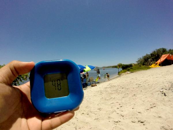 temperatura areia lagoa guarapina marica