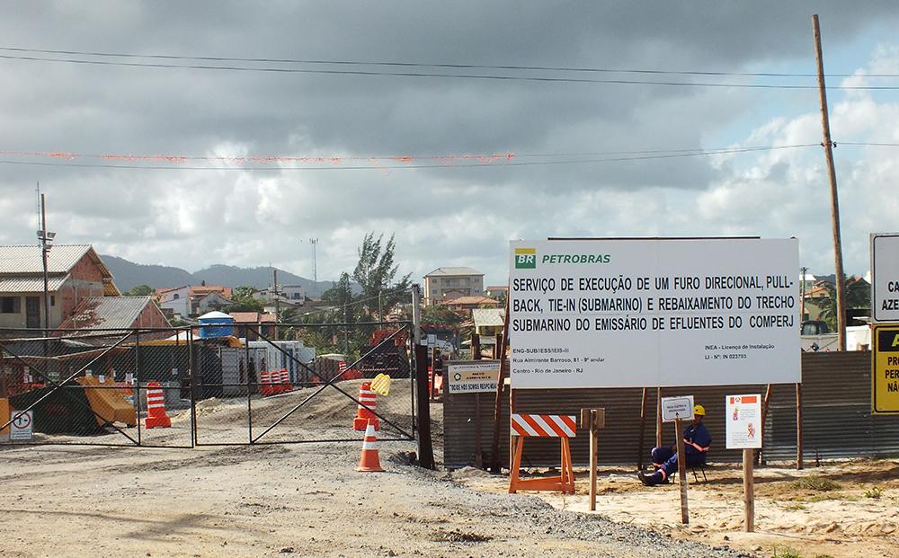 Obras do emissário submarino entram na reta final em Itaipuaçu