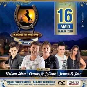 Rancho do Tomate com diversas atrações no dia 16 de maio.