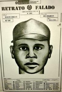 Retrato falado do suspeito foi feito por uma das vítimas.
