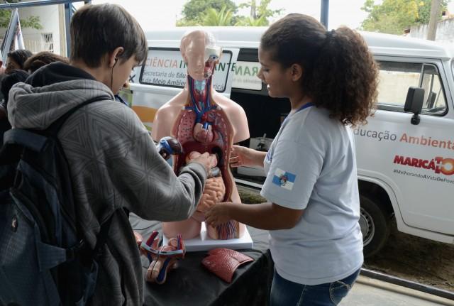Alunos do Ensino Médio aprovaram a iniciativa que atraiu a curiosidade dos participantes do evento sobre preservação ambiental. (foto: Clarildo Menezes)