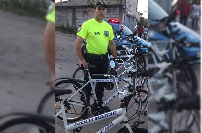 PM usará bicicletas em patrulhamento na região Central de Maricá