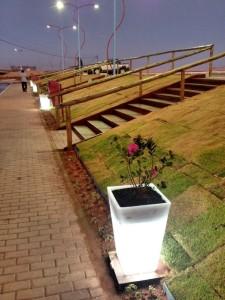 Local ganhou arborização e iluminação especial. (foto: Divulgação)