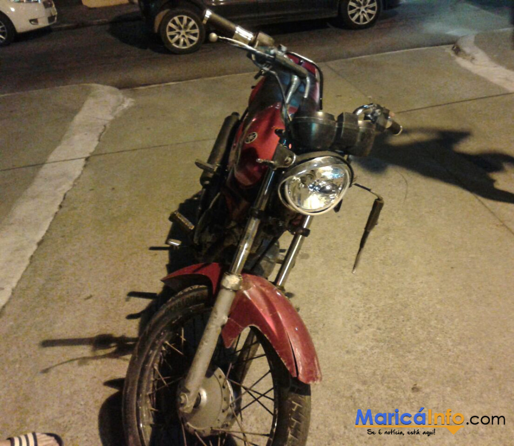 Moto furtada foi recuperada após ação da PM.