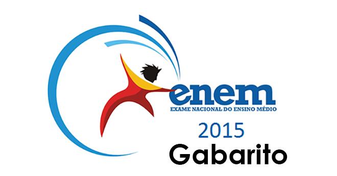 ENEM 2015: Confira o gabarito oficial