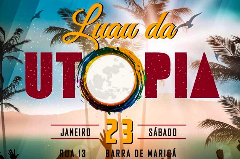 Maricá: Luau da Utopia acontecerá dia 23 na Barra