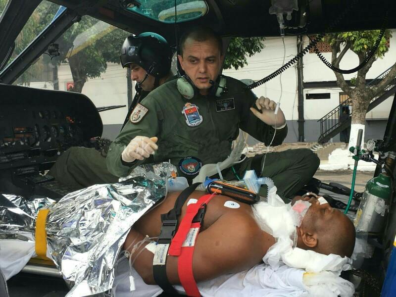 Policial Militar foi baleado em posto de combustíveis em Maricá.