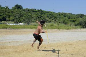 Jornada Esportiva contou com diversas provas, como a de arremesso de lança. (foto: Divulgação)
