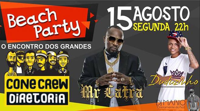Maricá terá show de Cone Crew, Mr. Catra e MC Duduzinho no dia 15