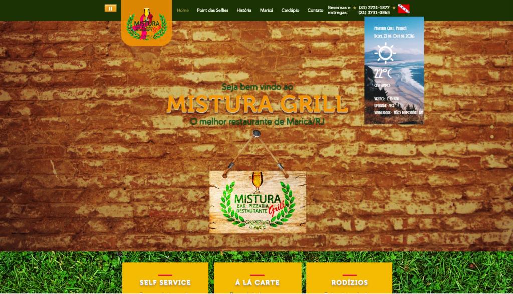 Site do Mistura Grill vai contar com fotos dos visitantes, terá três idiomas e vai testar pedidos On Line