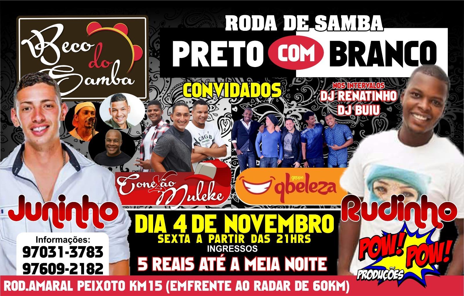 Maricá: Sexta-feira terá roda de samba em Inoã