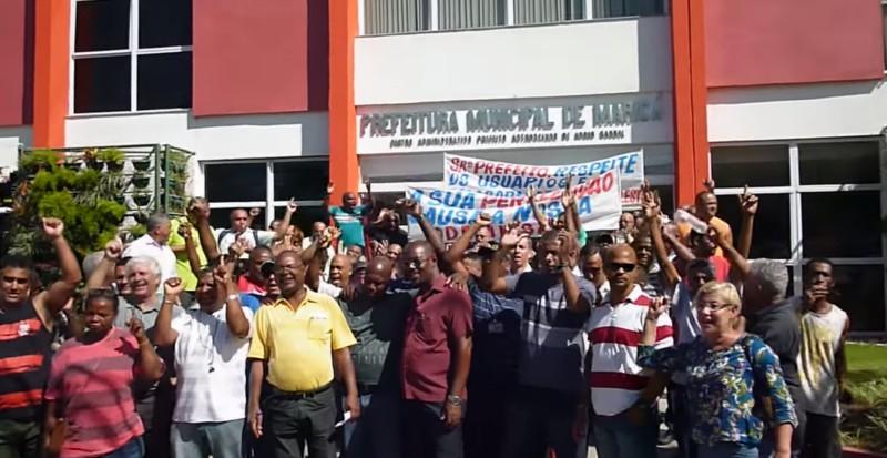 Maricá: Funcionários da Costa Leste fazem protesto no Centro