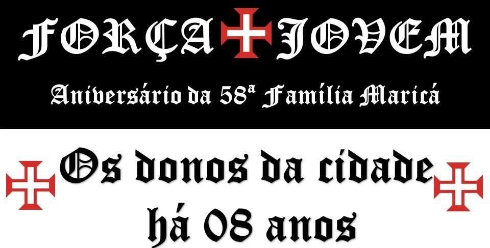 Força Jovem Vasco de Maricá convida vascaínos da cidade para aniversário de 8 anos
