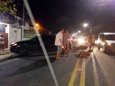 Maricá: Mulher fica ferida em acidente na Avenida Maysa