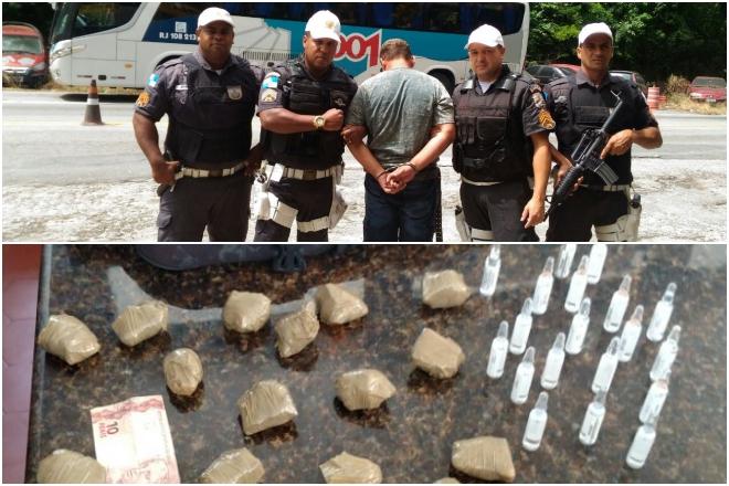 Maricá: Polícia Rodoviária apreende drogas e prende homem na Serra do Mato Grosso