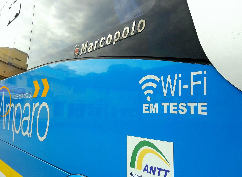 Viação Nossa Senhora do Amparo testa internet wi-fi em ônibus