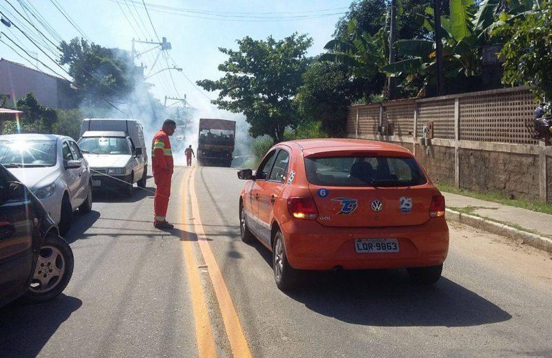 Maricá: Prefeitura faz intervenção na 'Estrada do Boqueirão' após acidentes