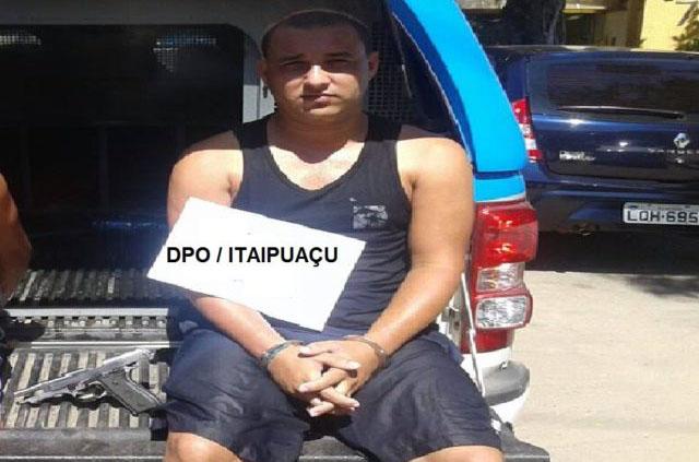 Maricá: PM prende foragido da justiça tentando roubar casa em Inoã